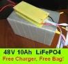 LiFePO4 48V 10Ah Lithum ion Battery