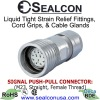 M23 Signal Push-Pull Connector - Straight Connector, Female Thread