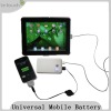Mini 5000mAh External Battery for Apple iPad/iPhone/Samsung Galaxy S/Tab/USB (Black)