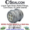 Multi-Hole Nickel Plated Brass Cable Glands for use in Hazardous Locations
