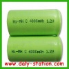 Ni-MH C Size Rechargeable Battery