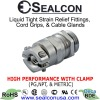 Nickel Plated Brass High Performance Cable Gland  with Clamp