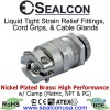 Nickel Plated Brass High Performance Strain Relief Fittings with Clamp