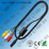 PVC insualted male to male  audio cable