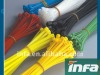 Plastic releasable cable ties