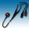 Power cord set UK BS style splitter cable mains lead fused