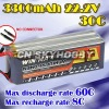 RC airplane lipo battery 3300mAh 22.2V 30C with high c rate