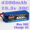 RC toy lipo battery Akku 4500mah 18.5V 30C
