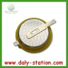Rechargeable 3.6v li-ion button cell