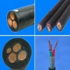 Rubber sleeve control cable