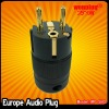 Schuko audio power plug