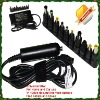 Slim Universal laptop adapter 90W universal car charger with 11-13tips