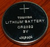 TOSHIBA battery, CR2032 3V lithium coin cell battery