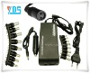 Universal 100W Notebook Replacement AC Adapter with 8 Interfaces,EU AC Cable