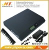Universal notebook power bank with LCD