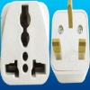 Universal travel adaptor plug and socket