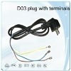 VDE  (Schuko Power Cords) ,AC power plug cord (VDE)