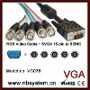 VGA HD-15 to 5 BNC RGB Video Cable for HDTV Monitor cable