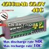 WinMax rc toy 4200mAh 22.2V 40C lipo battery