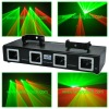dj lighting, DMX 4 head laser light, Red Green stage light, laser light projector -L2600