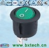 double pole with green LED lamp round AC power rocker switch KCD1
