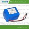 flashlight 11.1 V 6600mAh rechargeable li-ion battery pack