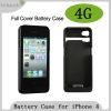 for iPhone 4 Full cover Battery Cases with WWI optional
