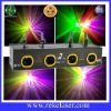 four lens red, green, mixed yellow and purple motor disco laser light