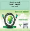 high speed 1.8M HDMI cable with double color pvc moulding type connector