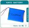 lithium polymer battery 505575-2S with 2200mAh 7.4V /POS Terminal
