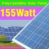 poly solar panel modules 155W for home use with TUV CE certifcate