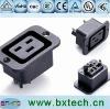 power socket/AC socket SS-3B black colour
