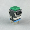 push button switch green cap