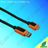 usb data 3.0 orange/black PVC molded connector shells